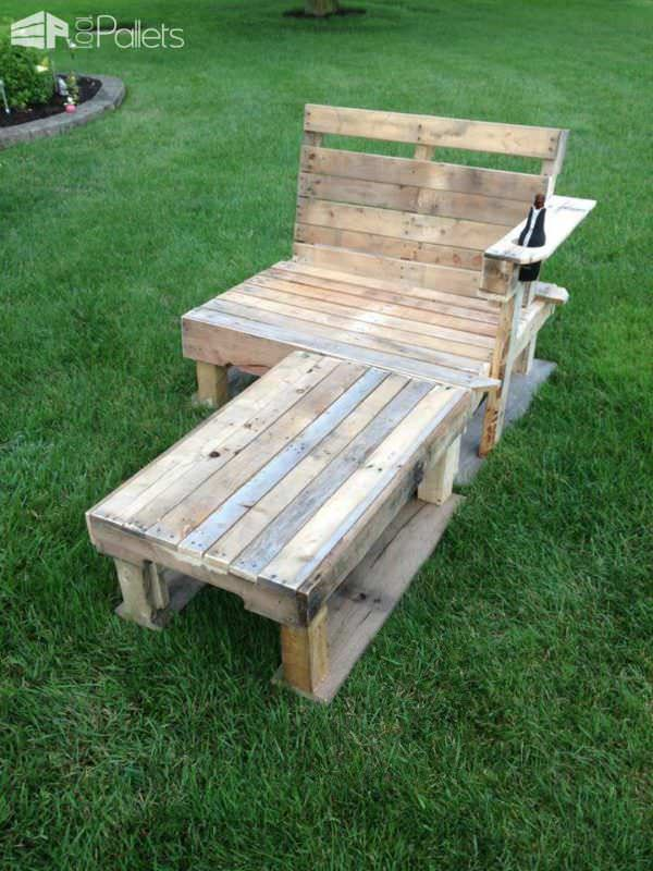 My First Lounge Chair Lounges & Garden Sets Pallet Benches, Pallet Chairs & Stools