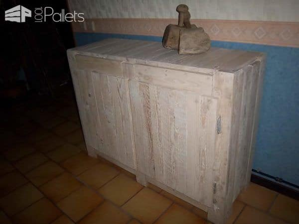 Cupboard Made with Wood From Used Pallets Pallet Cabinets & Pallet Wardrobes