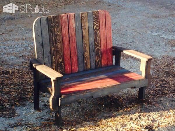 3 Pallets Bench Pallet Benches, Pallet Chairs & Stools