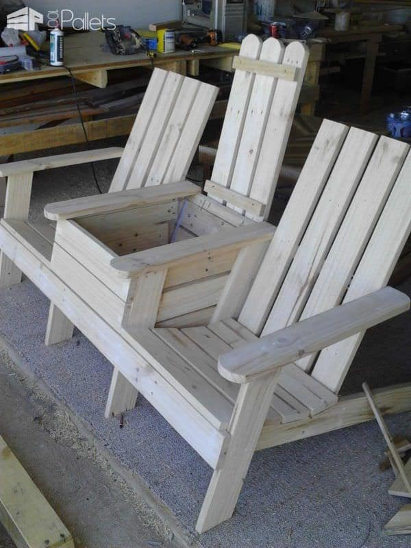 Adirondack Jack & Jill Chair from Pallets Pallet Benches, Pallet Chairs & Stools