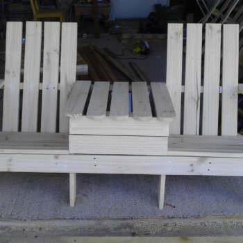 Adirondack Jack & Jill Chair from Pallets