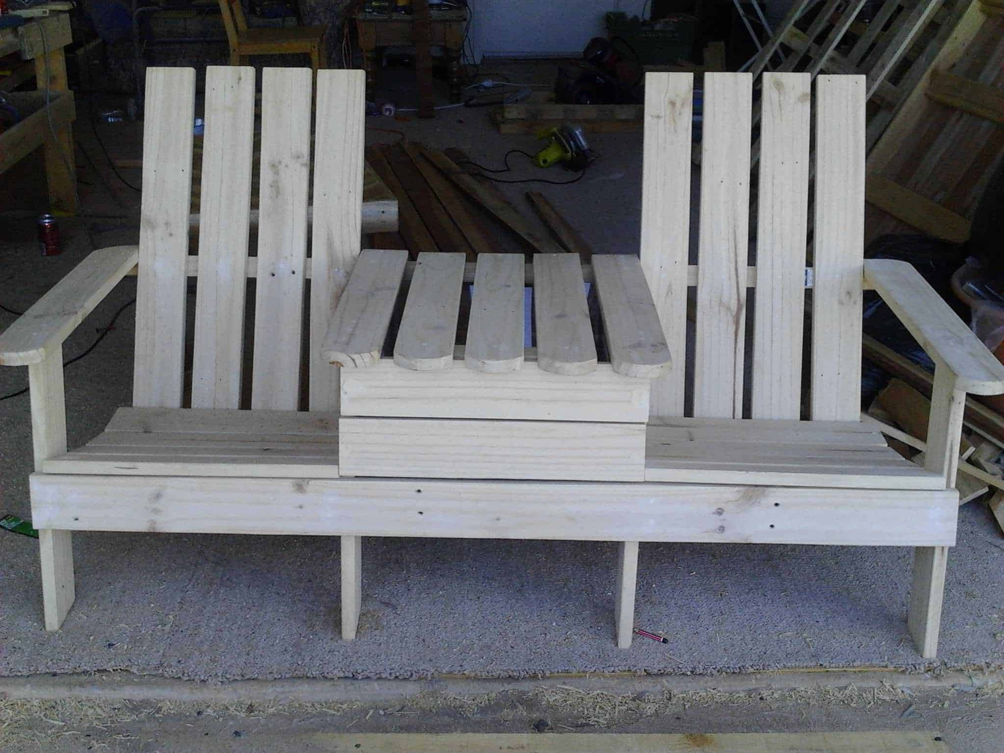 Adirondack Jack & Jill Chair from Pallets • Pallet Ideas ...