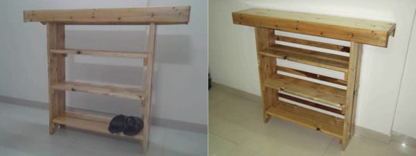 An Open Shore Rack + Aquarium Stand Made From Repurposed Pallets Pallet Shelves & Pallet Coat Hangers