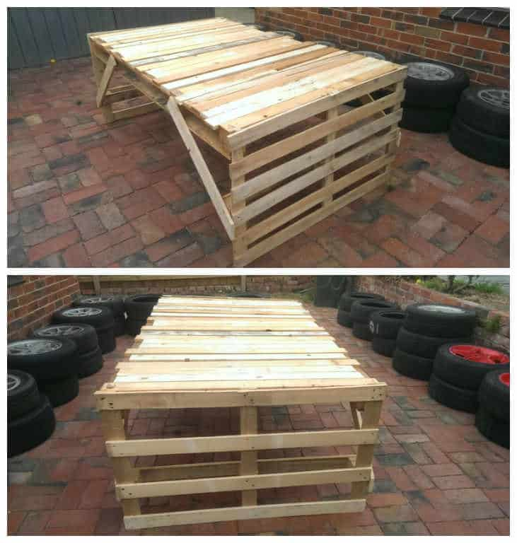 cheap easy pallet table 1001 pallets