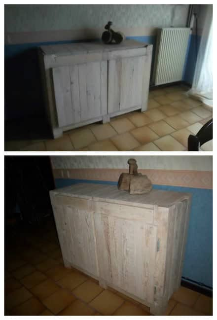 Cupboard Made ​​with Wood From Used Pallets