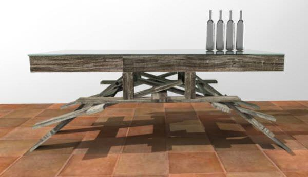 Leona Table + 1452 Chair Pallet Furniture
