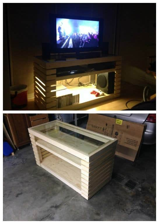 Meuble tv tv stand 1001 pallets for Meuble tv stone