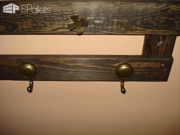 My First Coat Hanger Pallet Shelves & Pallet Coat Hangers