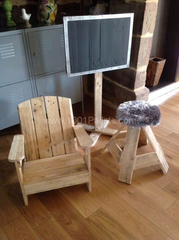 My Pallet Creations / Créations En Bois De Palettes Pallet Benches, Pallet Chairs & Stools Pallet Coffee Tables