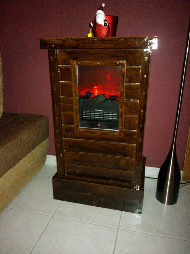 Pallet Cabinet For Electric Fireplace Device 1001 Pallets
