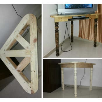 Pallet Corner Table For CRT-TV