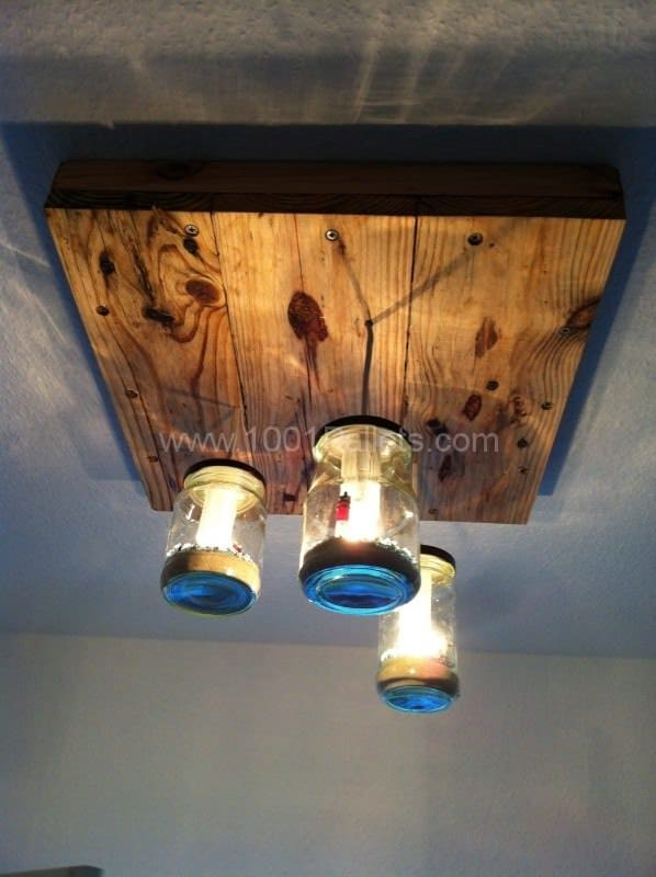 Pallet & Jars Pendant Lamp Pallet Lamps, Pallet Lights & Pallet Lighting