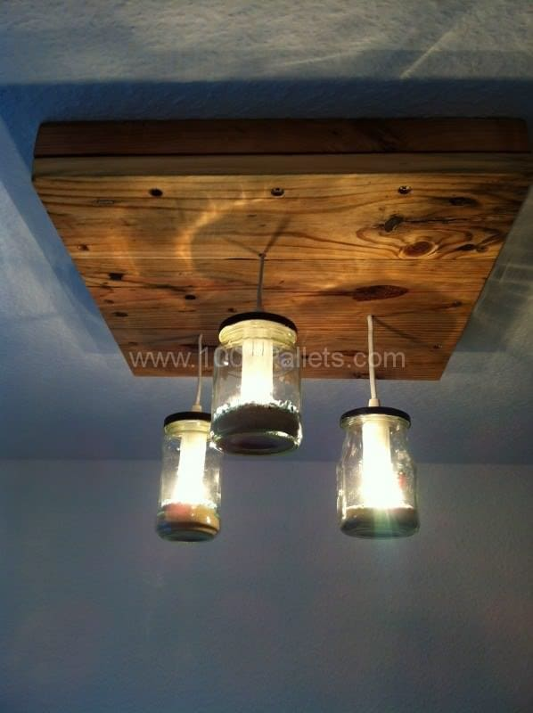 Pallet & Jars Pendant Lamp Pallet Lamps & Lights