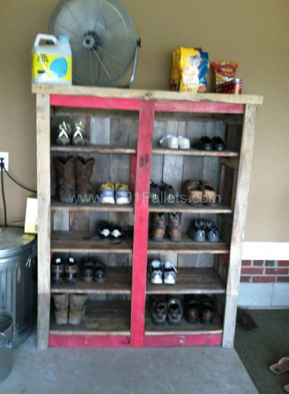 Pallet Shoe Racks Pallet Shelves & Pallet Coat Hangers
