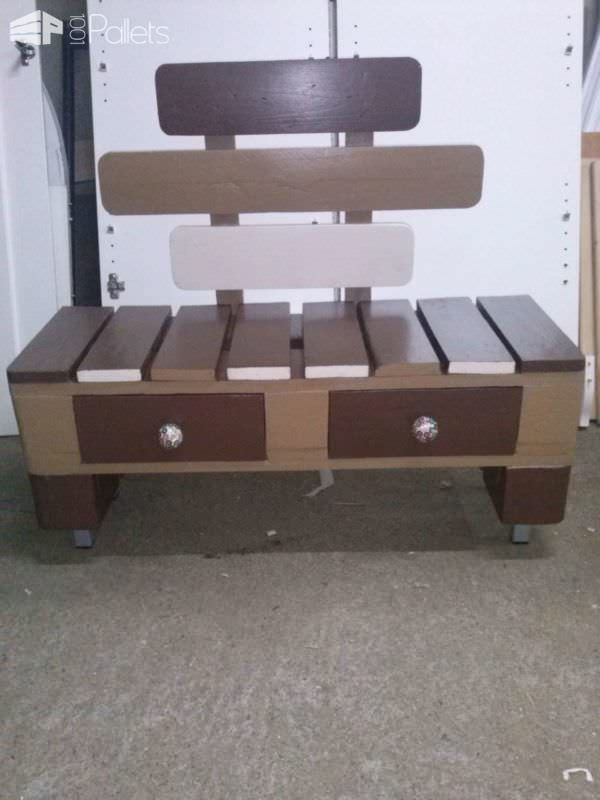 Pallet Stool With Drawers Pallet Benches, Pallet Chairs & Pallet Stools
