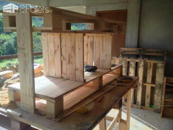 Pallets TV Stand Pallet TV Stand & Rack