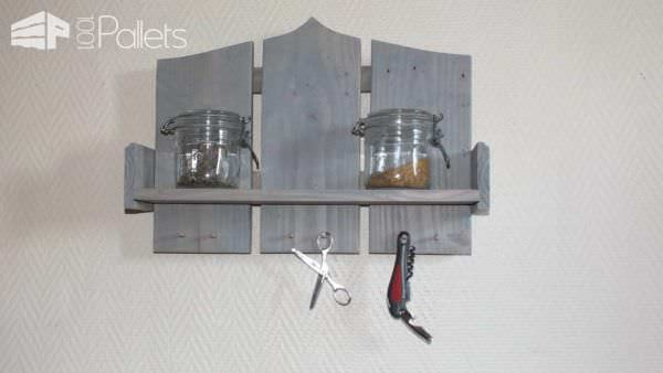 Petites Tag Res En Bois De Palette Small Wood Pallet Shelves 1001 Pallets