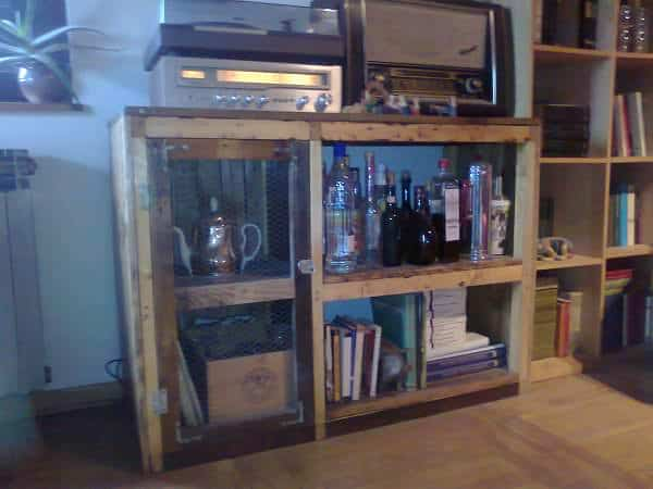 Recycled Pallet Wood Cabinet Pallet Cabinets & Wardrobes