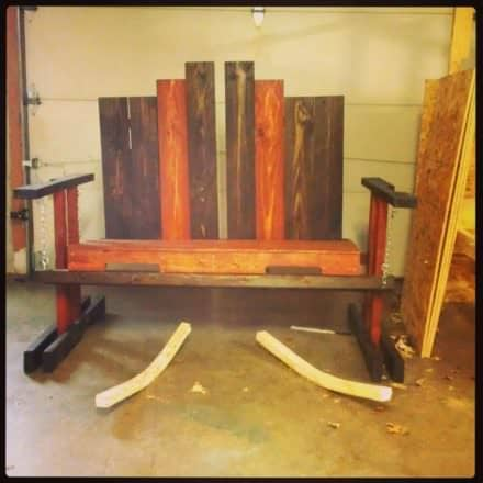 Swinging Bench From Repurposed Pallets