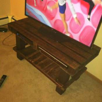 TV Stand Made From Old Wooden Pallets