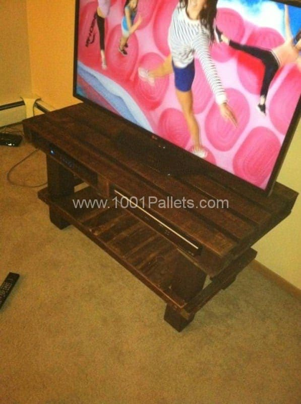 Tv Stand Made From Old Wooden Pallets Pallet TV Stands & Racks