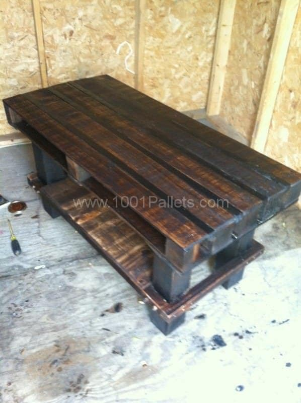 Tv Stand Made From Old Wooden Pallets Pallet TV Stand & Rack