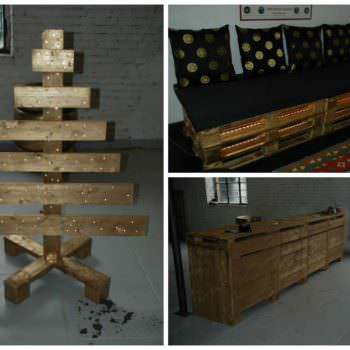 Workbench, Sofa & Christmas Tree: All Made From Wooden Pallets