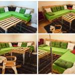 Sofa and pallet Table for a pallets lounge