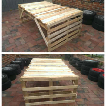Cheap & Easy Pallet Table