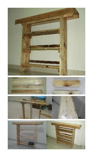 An Open Shore Rack + Aquarium Stand Made From Repurposed Pallets