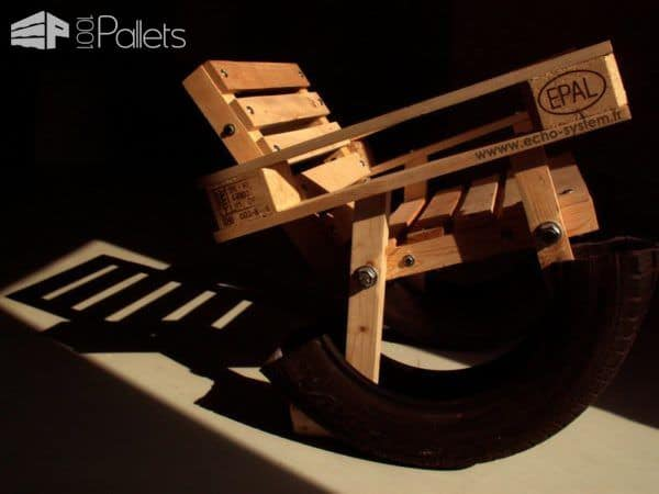 Design Pallet & Tire Rocking Chair Pallet Benches, Pallet Chairs & Stools