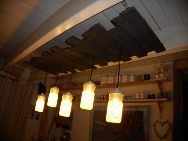 Dining Room Pendant Lamp Pallet Lamps & Lights