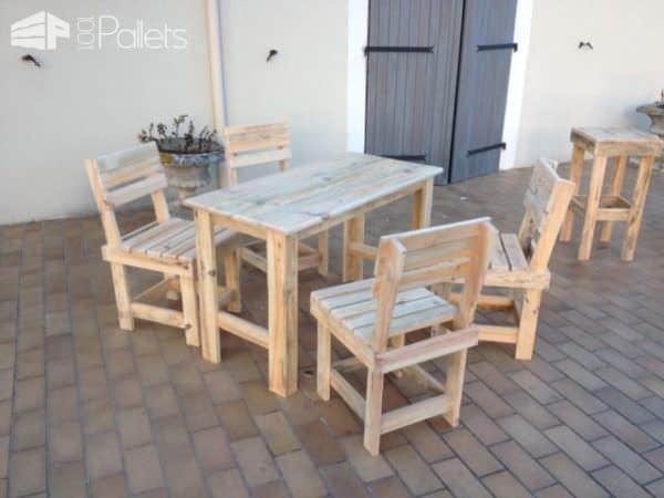 Garden Pallet Table & Chairs Pallet Benches, Pallet Chairs & StoolsPallet Desks & Pallet Tables