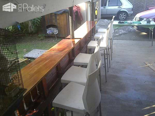 Home Made Pallet Bar DIY Pallet Bars Lounges & Garden Sets