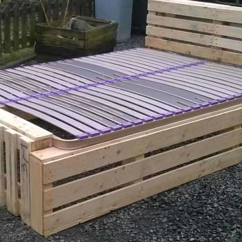 Idea for a Pallet Bed Frame