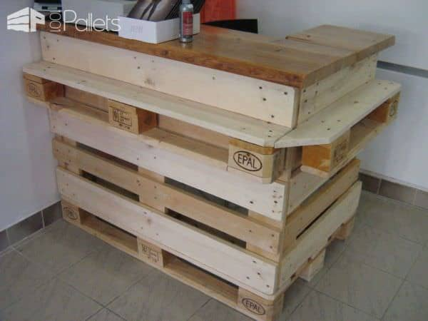 Ideas of Pallet Furnitures for a Store DIY Pallet Furniture Pallet Store, Bar & Restaurant Decorations