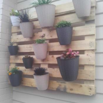 My First (But Not Last) Pallet Project: A Vertical Garden