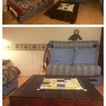 My Living Room Pallet Furnitures