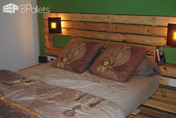 Pallet Bed & Headboard DIY Pallet Bedroom - Pallet Bed Frames & Pallet Headboards