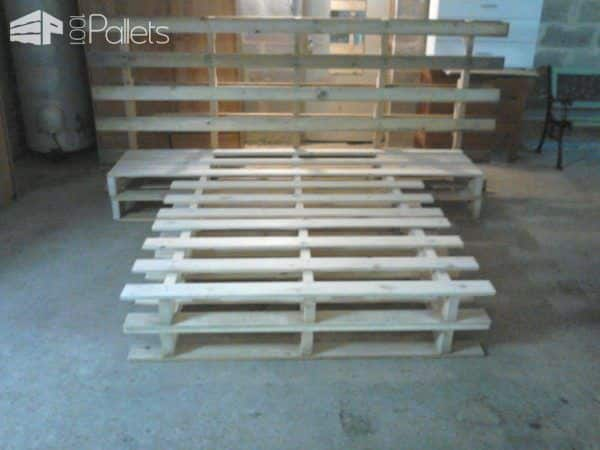 Pallet Bed & Headboard DIY Pallet Bed Headboard & Frame