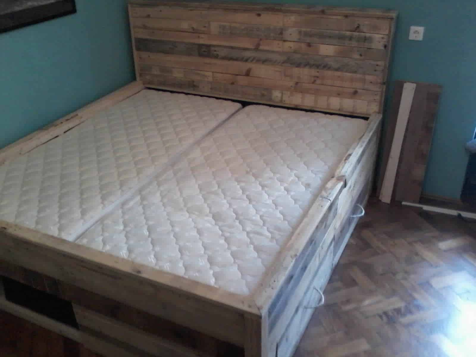 T3 1001 pallets for How to make a pallet bed with drawers