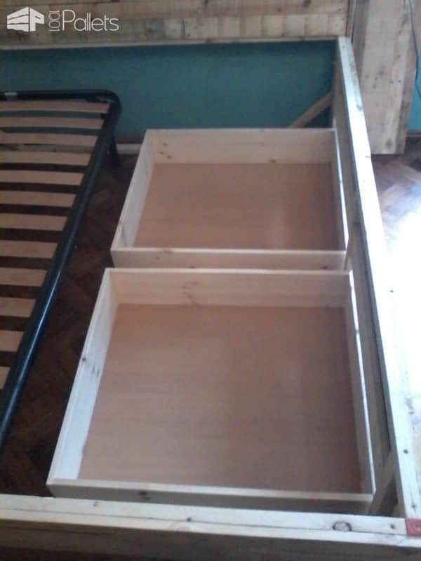 Pallet Bed with Drawers DIY Pallet Beds, Pallet Bed Frames & Pallet Headboards