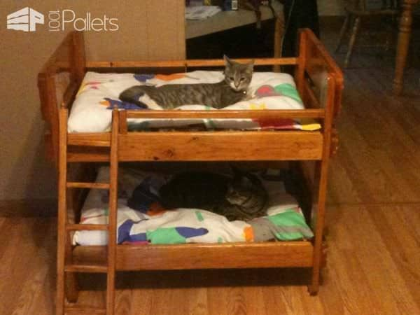 pallet bunkbeds for animals 1001 pallets. Black Bedroom Furniture Sets. Home Design Ideas