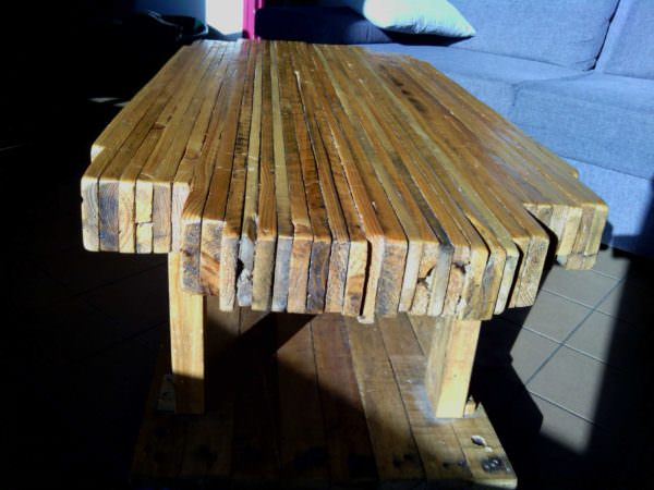 Pallet Butcher's Block Coffee Table Pallet Coffee Tables