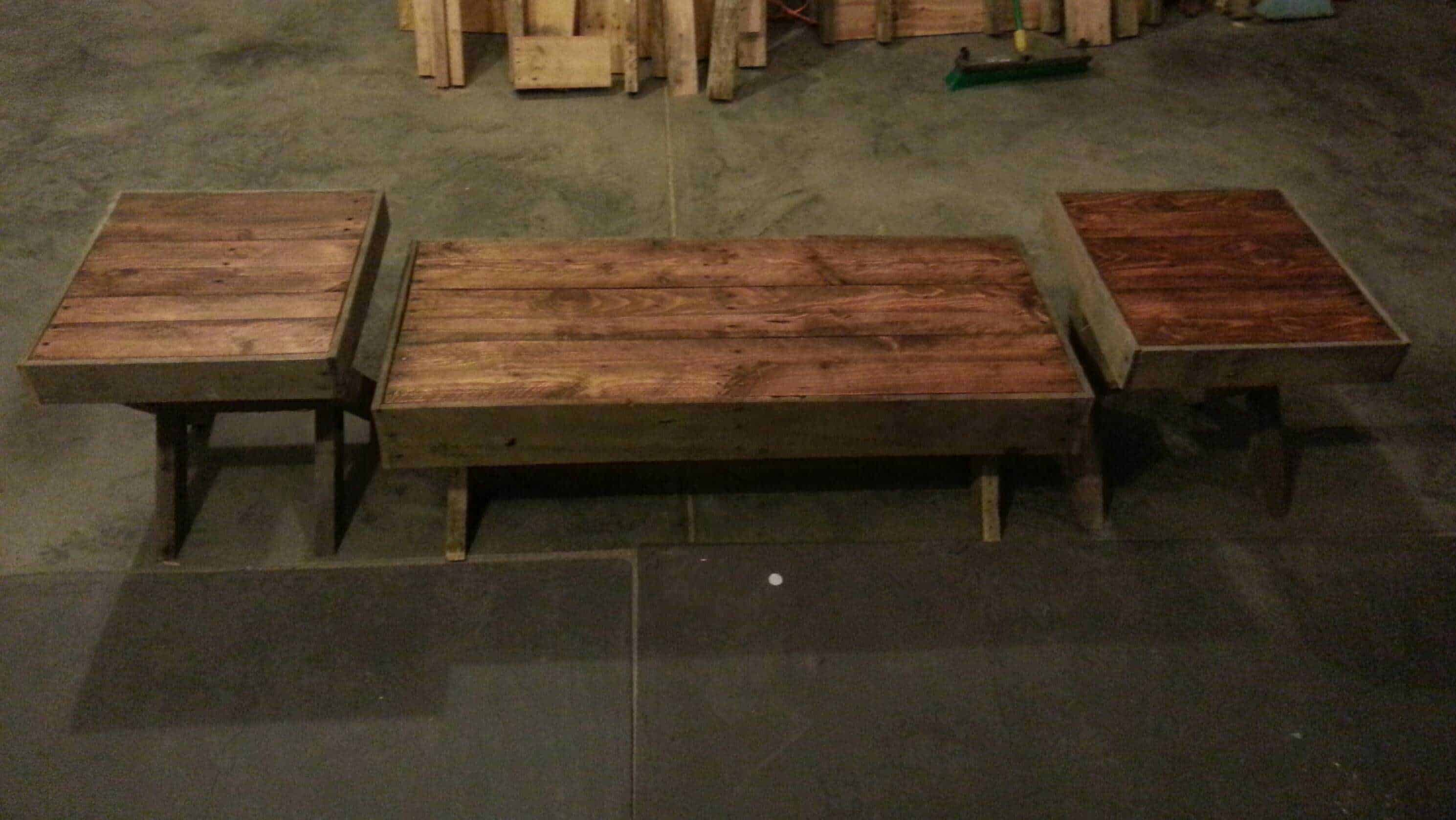 Pallet coffee end tables 1001 pallets for End tables out of pallets