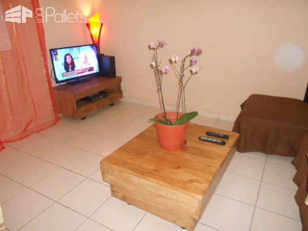 Pallet Coffee Table & TV Stand Pallet Coffee TablesPallet TV Stand & Rack