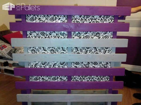 pallet headboard t te de lit en palette 1001 pallets. Black Bedroom Furniture Sets. Home Design Ideas