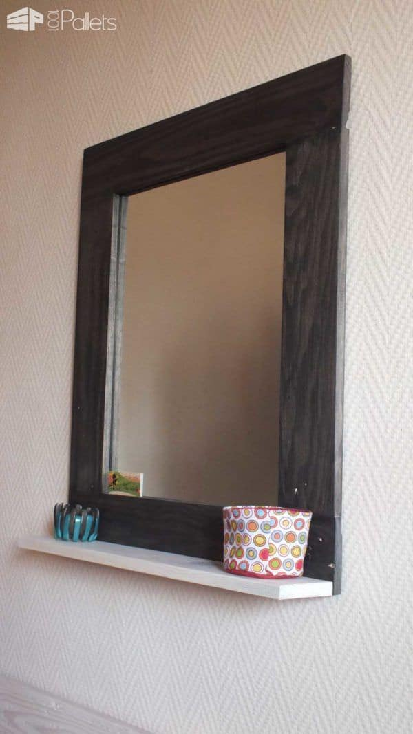pallet mirror frame pallet wall decor pallet painting - Decorate Mirror Frame