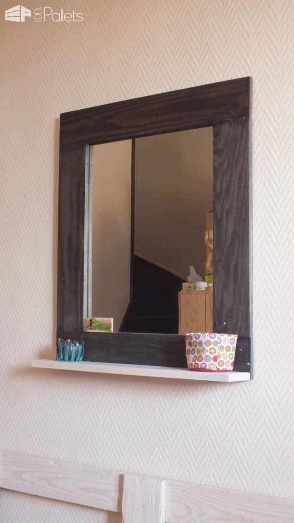 Pallet Mirror Frame Pallet Wall Decor & Pallet Painting