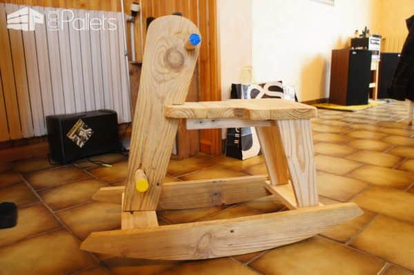 Pallet Rocking Horse Fun Pallet Crafts for Kids